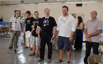 Photo: Top 3 winners of Ikaros 2014 (from left): P. Prohazska (with the cup), P. Velicka, F. Khairallah
