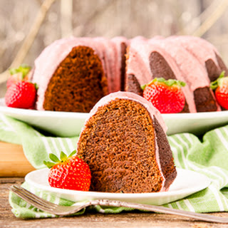 Chocolate Potato Bundt Cake with Strawberry Glaze Recipe
