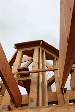 Photo: Cupola from, uh, somewhere under it. It'll be easier to figure out where we are in the house when there aren't so many sticks.