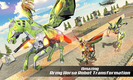 PC u7528 Multi Transforming Army Horse Robot Games 2