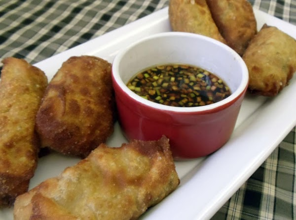 Allow the egg rolls to cool for at least 5 minutes before eating. Serve...