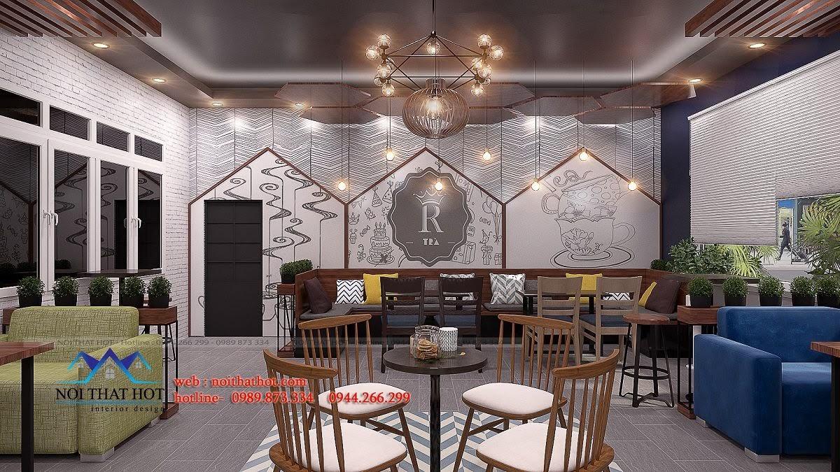 thiết kế quán trà sữa royal tea 4