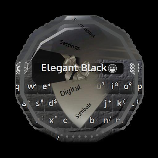 个人化のエレガントブラック GO Keyboard LOGO-記事Game