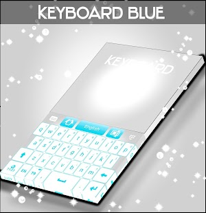 Blue Keyboard Free Theme - náhled