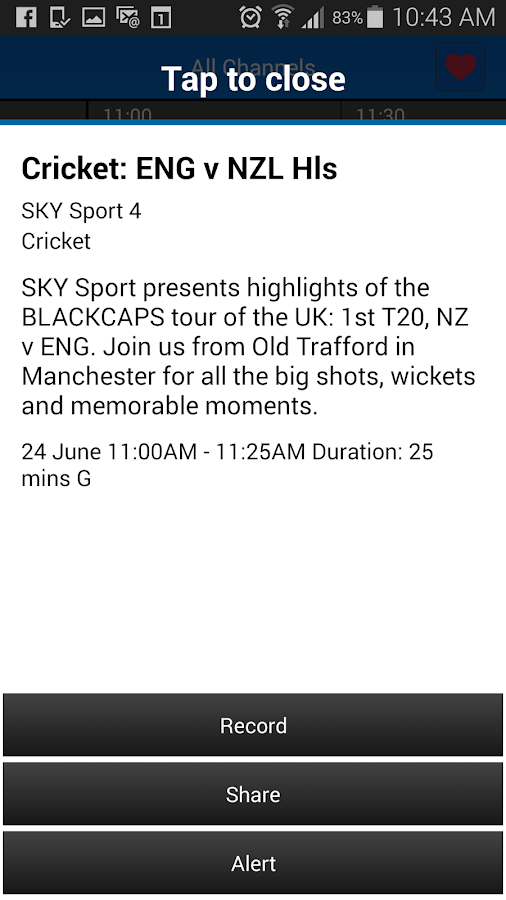 SKY TV NZ- screenshot