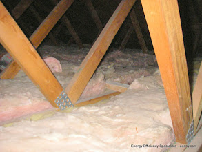 """Photo: Lower attic had additional 4"""" very poorly installed"""