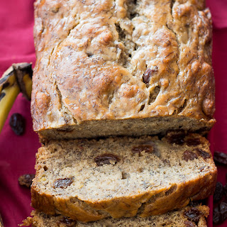 Skinny Banana Rum Raisin Bread