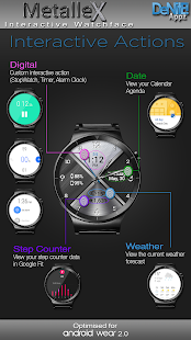 MetalleX HD Watch Face - náhled