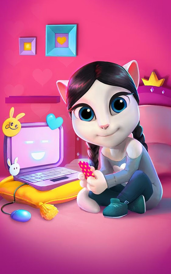 Kitty playing with her toys 3