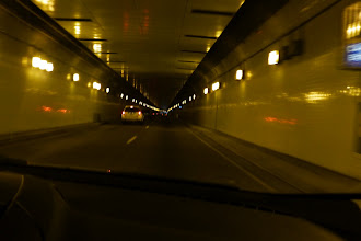 Photo: Driving through the Caldecott Tunnel under the Berkeley Hills. Our hotel was in Walnut Creek in Contra Costa County, about 25 minutes to downtown San Francisco