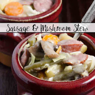 Easy One-Pot Sausage and Mushroom Stew.