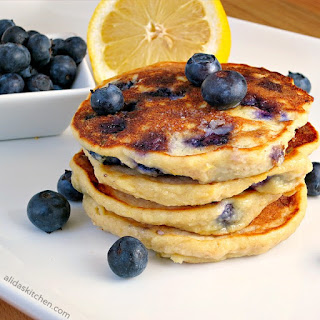 Whole Wheat Blueberry Lemon-Ricotta Pancakes