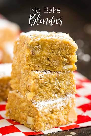 No-Bake Delicious Graham Cracker Blondies