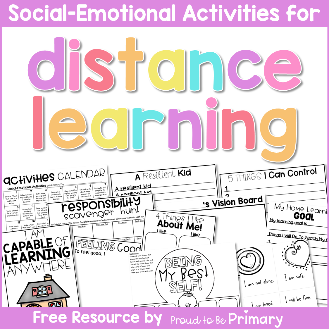 Free Social Emotional Activities that Support Distance Learning at Home