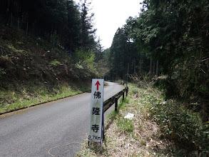 舗道を仏隆寺に向う