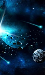 Galaxy Blue Star LWP - náhled