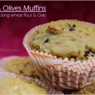 Tofu & Olives Savory Muffins.