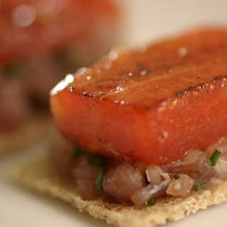 Tuna Carpaccio With Caramelised Watermelon.