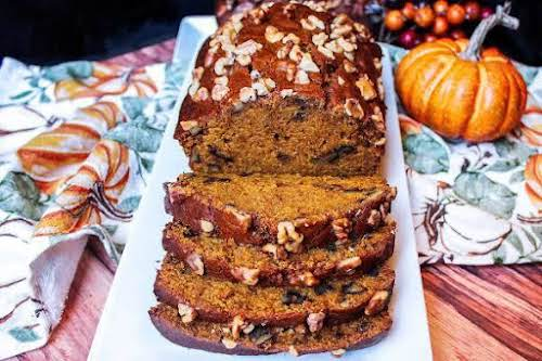 """Super Moist Pumpkin Bread With or Without Dates""""This is the most amazingly..."""