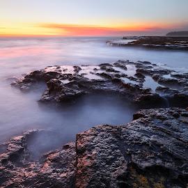 First Light by Geoffrey Wols - Landscapes Sunsets & Sunrises ( bendalong, coast, seascape, sunrise, waterscape, beach, sunset, morning,  )