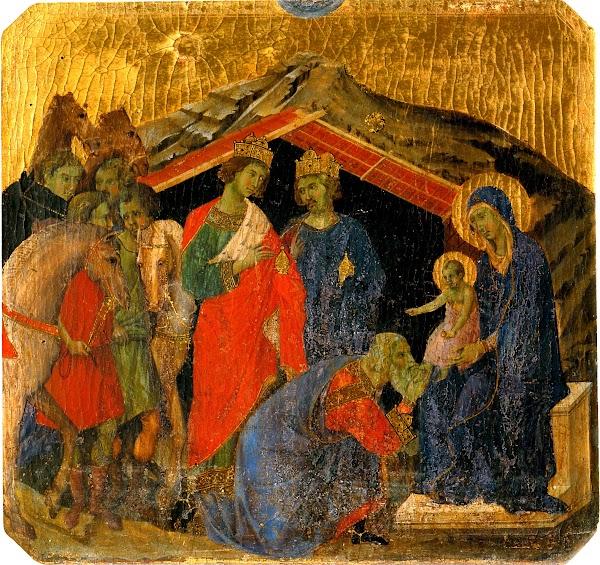 Duccio di Buoninsegna, Predella della Maestà, Adorazione dei Magi (Siena, Museo dell'Opera del Duomo)