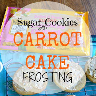 Carrot Cake Frosting & Nestle Rolled and Ready Cookie Dough Sheets