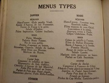 escoffier menus