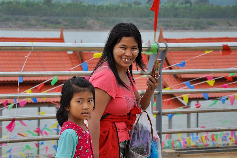 Mamma e figlia laotiane di Melo