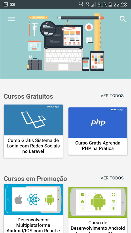 Busca Cursos- screenshot