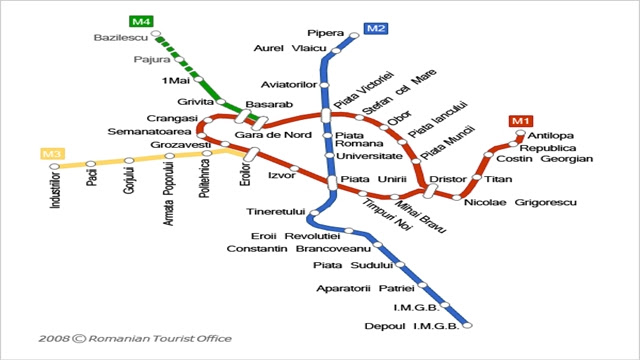 Bucharest Tube Network