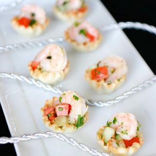 Shrimp Ceviche in Phyllo Cups.