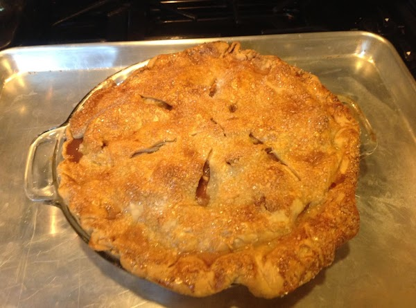 Remove from oven and allow pie to cool.