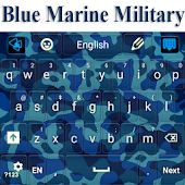 Blue Navy Camouflage Keyboard