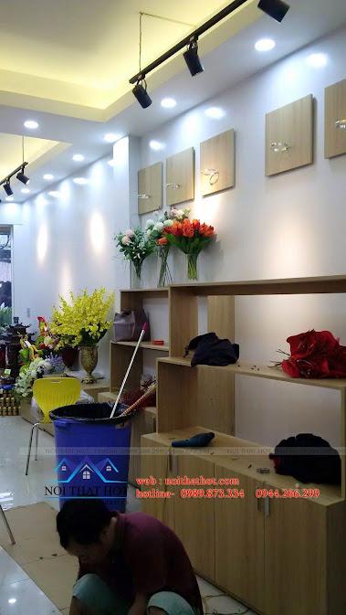 thi công cửa hàng hoa đẹp