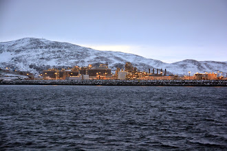 Photo: Lots of natural gas that is piped undewater to the liquifying plant in Hammerfest