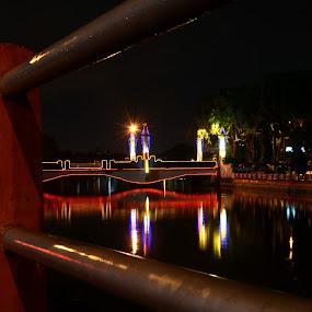 Glowing Bridge by Boy De Nova - City,  Street & Park  Vistas
