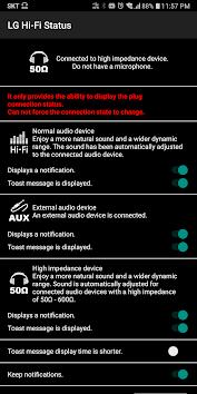 Android用Hi-Fi Status(LG) アプリ screenshot
