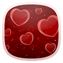Delicate Hearts Free LWP icon