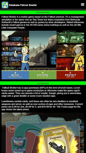 DB for Fallout Shelter