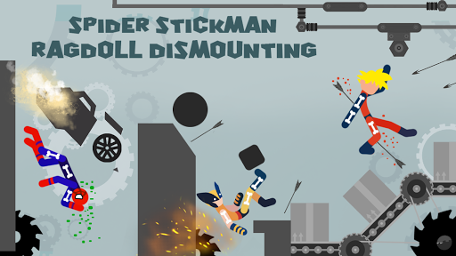 Spider Stickman Ragdoll Dismounting 1.0 screenshots 1