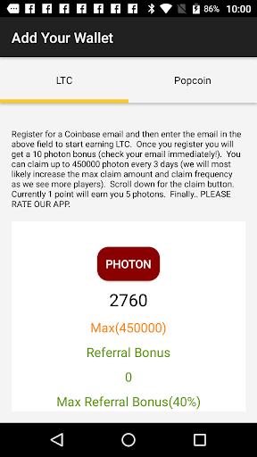 Photon Poker - Earn Free LTC ss2