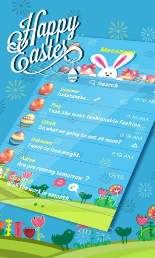 GO SMS PRO EASTER THEME