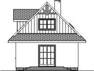 Domek Matuszny - Elewacja tylna