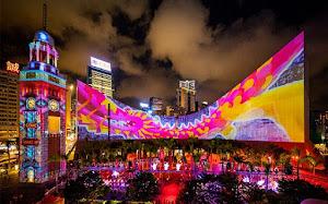 Hong Kong Christmas Light Show