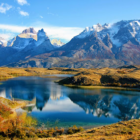 Reflections IV! by Itamar Campos - Landscapes Travel ( torres del paine, chile, national park, mountains, lake,  )