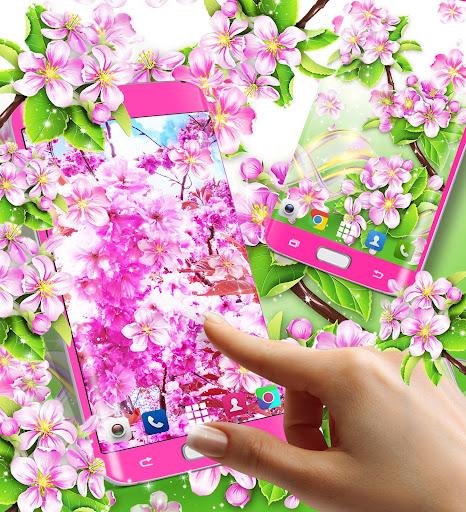 sakura flowers live wallpaper screenshot 2