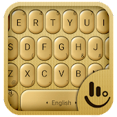 3D Gold Keyboard Theme
