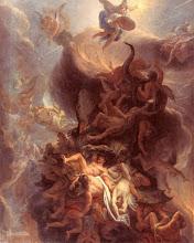 Photo: Charles Le Brun (1619-1690) La chute des anges rebelles Huile sur toile - 162 x 129 cm Dijon, Musée des Beaux-Arts