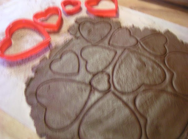 Roll the dough out onto a lightly floured surface. Cut it into desired shapes.  NOTE:...