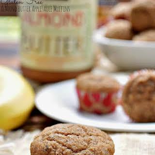 Gluten Free Almond Butter Applesauce Muffins.
